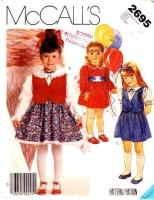 McCalls 2695 Girls' Poofy Fancy Dress, Sash, Vest Sewing Pattern 4-6 Uncut