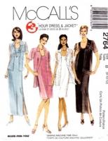 McCalls 2764 Sheath Dress & Shirt Jacket Sewing Pattern 8-12 B31-34 Uncut