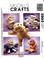 McCalls 2902 Angel Hugs Plush Dolls Sewing Pattern Uncut