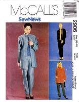 McCalls 2906 Asian Inspired Jacket, Top, & Pull-on Pants Sewing Pattern 16-18 B38-40 Uncut