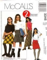 McCalls 3346 Girls Bias Cut Skirt Sewing Pattern 7 8 10 Uncut
