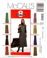 McCalls 3352 Sleeveless Jumper Dress Sewing Pattern 16-22 B38-44 Uncut