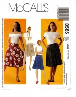 McCalls 3585 Pleated, Yoked or Flared' Skirt Sewing Pattern 4-10 Waist 29-32 Uncut