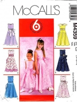 McCalls 4359 Girls Sleeveless Sashed Dress Sewing Pattern 10-14 Uncut