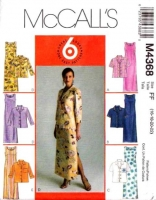 McCalls 4368 Plus Size Scoop Neck Dress & Jacket Sewing Pattern 16-22 B38-44 Uncut