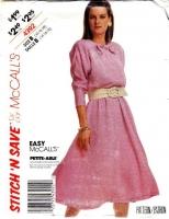 McCalls 4392 Full Skirt, Batwing Sleeve Dress Sewing Pattern 14-18 B36-40 Uncut
