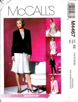 McCalls 4467 Semi-Fitted Jacket, Top, Bias Skirt & Pants Sewing Pattern Plus Size 14-20 B38-44 Uncut