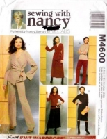 McCalls 4600 Wrap Jacket, Dress, Cowl Neck Top, Pants, & Skirt Sewing Pattern XS-XL B31-44 Uncut