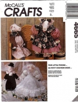 McCalls 4665 Stuffed Pig Doll & Clothes Sewing Pattern Uncut