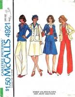 McCalls 4921 Jacket, Blazer, Vest, Skirt & Pants Sewing Pattern 12 B34 Uncut