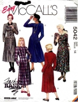 McCalls 5042 Drop-Waist Dress Sewing Pattern 14 B36 Used