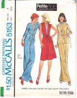 McCalls 5153 70s Jacket, Vest, Skirt, Pants Sewing Pattern 8 B31