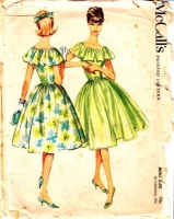 McCalls 5214 50s Flutter Cape Collar Dress Sewing Pattern 14 B34 Used
