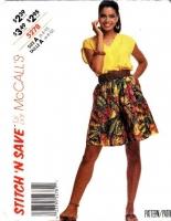 McCalls 5278 Sleeveless Top, Culottes, Split Skirt Sewing Pattern 6-10 B30-32 Uncut