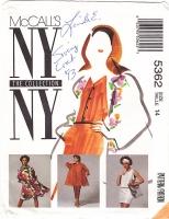 McCalls 5362 Trapeze Dress Coat Skirt Top Pattern 14 New