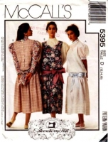 McCalls 5395 Retro Twenties Style Drop Waist Dress Sewing Pattern 12-16 B34-38 Uncut