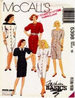 McCalls 5398 Chemise Dress Sewing Pattern 16 B38 Uncut