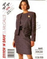 McCalls 5576 Jacket & Dress Suit Sewing Pattern  8-12 B31-34 Uncut