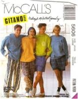 McCalls 5606 Unisex Pants, Tops, & Shorts Sewing Pattern Large Chest 40-42 Uncut