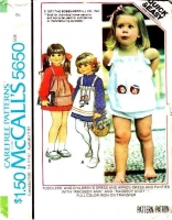 McCalls 5650 Toddler Raggedy Ann Dress & Sundress Sewing Pattern 2 Used