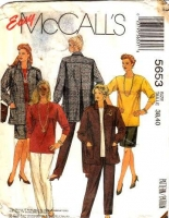 McCalls 5653 Jacket, Top, Skirt & Pants Sewing Pattern Women's 38-40 B42-44 Uncut