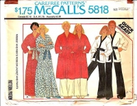 McCalls 5818 Unisex Bath Lounge Robe, Pants Sewing Pattern Medium B36-38 Uncut