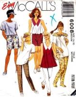 McCalls 6008 Trapeze Top, Pants, Shorts & Visor Sewing Pattern Medium B36-38 Uncut