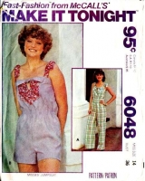 McCalls 6048 70s Jumpsuit, Romper, Playsuit Sewing Pattern 14 B36 Used