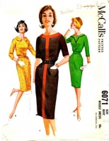 McCalls 6071 60s Wiggle Dress Sewing Pattern 12 B32 Used