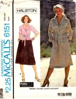 McCalls 6151 Vintage 70s Halston Jacket Sewing Pattern 14 B36 Used