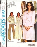McCalls 6163 Cowl Neck' Dress or Top Sewing Pattern 18 B40 Used