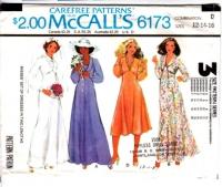 McCalls 6173 70s Romantic Bridesmaid, Wedding, Prom, Evening Dress Sewing Pattern 12-16 B34-38 Uncut