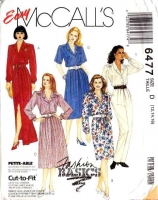 McCalls 6477 Shirtwaist Dress & Jumpsuit Sewing Pattern 12-16 B34-38 Uncut
