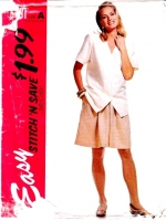 McCalls 6491 Tunic Top & Split Skirt, Culottes Sewing Pattern 10-16 B32-38 Uncut