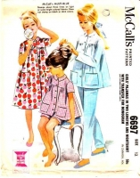 McCalls 6697 Girls' Pajamas, Nightshirt, Pants Sewing Pattern 12 B30 Used