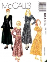 McCalls 6848 Shaped Bodice Dress Sewing Pattern 4-8 B29-31 Uncut