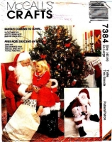 McCalls 7384 Santa Costume, Bag, Santa Doll, Christmas Decor Sewing Pattern Uncut