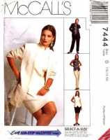 McCalls 7444 Hip Length Jacket, Top, Pants & Pencil Skirt Sewing Pattern 12-16 B34-38 Uncut