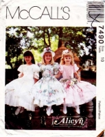 McCalls 7490 Girls' Party, Flower Girl Dress Sewing Pattern 10 Uncut
