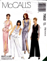 McCalls 7952 Evening Wear Vest, Pants, & Skirt Sewing Pattern 18-22 B40-44 Uncut