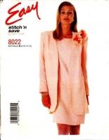McCalls 8022 Sheath Dress & Jacket Sewing Pattern 8-14 B31-36 Uncut