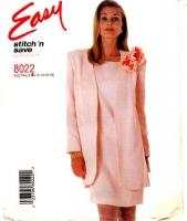 McCalls 8022 Shift Dress & Thigh Length Jacket Sewing Pattern 12-18  B34-40 Uncut