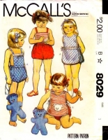 McCalls 8029 Childs' Toddler Cover-Up, Romper and Bag Sewing Pattern 1 Used