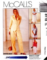 McCalls 8118 Career Wear, Jacket, Pants, Shorts, Skirt Sewing Pattern 8-12 B31-34 Uncut