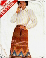 McCalls 8145 Modest Bow Neck Blouse & Gathered Wrap Skirt Sewing Pattern 12-16 B34-38 Uncut