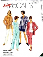 McCalls 8169 Plus Size Jacket, Vest, Pants, Shorts, Skirt Sewing Pattern 40-44 B44-48 Uncut