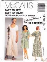 McCalls 8170 Pullover Dress Sewing Pattern Plus Size 24 B46 Uncut