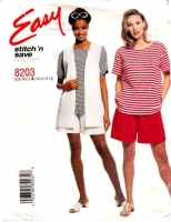 McCalls 8203 Vest, Top and Pull-on Shorts Sewing Pattern 10-16 B32-38 Uncut