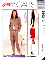 McCalls 8263 Cropped Jacket, Dress, Sleeveless Top, Tapered Pants, & Skirt Sewing Pattern 14-18 B36-40 Uncut