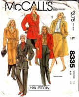 McCalls 8335 Halston Wrap Coat, Jacket, Pants & Skirt Sewing Pattern 14 B36 Uncut